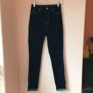 TOPSHOP dark wash high waist jeans